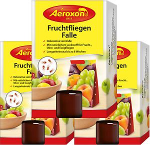 Aeroxon Fruchtfliegenfalle Obstfliegenfalle Klebefalle Insektenschutz 3x