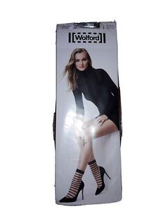 WOLFORD 41555 Isabella Socks White/White Size L