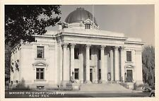 A68/ Reno Nevada Nv Real Photo RPPC Postcard c1940s Washoe County Court House 2