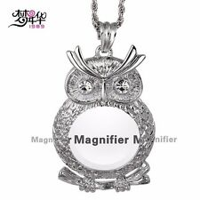 Beautiful Owl Necklace & Magnifyer