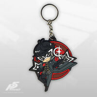 2005 Soul Calibur III Project Soul Metal Keychain /& Laser Etching Crystal
