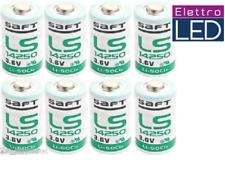 8 batterie 1/2 AA 14250 mezzastilo Litio SAFT 3,6V Li-SoCl2 1200 mAh  LS14250
