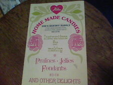 1974 Wilton Home Made Candies instructions for making pralines, jellies fondants