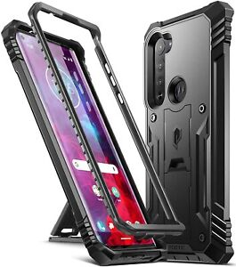 Poetic For Moto Edge 5G  Kickstand Case,Dual Layer Shockproof Cover Black
