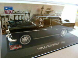 SIM20 Voiture 1/43 IXO altaya SIMCA : présidence noire