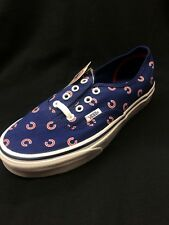 Vans Authentic Chicago Cubs Off The Wall Blue Cubs Logo Mens Women Sneakers