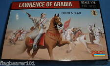 STRELETS SET 115. LAWRENCE OF ARABIA. 1/72 SCALE. 12 UNPAINTED FIGURES.