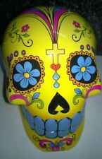 Candy Skull Day of the Dead Mexican Money Bank Yellow Colour New