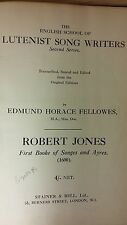Lutenist Song Writers: Robert Jones: Music Score (C4)