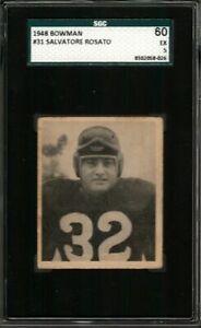 1948 BOWMAN #31 SALVATORE ROSATO SGC 5 REDSKINS *DS2664