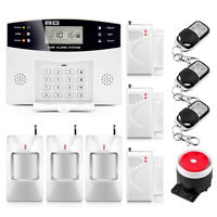 2G GSM Home Alarm System Security Kit Support Sim Card Wireless Door Detector