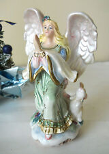 Vintage Rare Christmas Praying Angel Figurine Peaceable Kingdom Fitz & Floyd