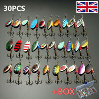 Metal Spinners Fishing Lures Sea Trout Pike Perch Salmon Bass Fishing
