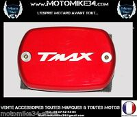Couvre couvercle maitre cylindre rouge  Anodisé YAMAHA TMAX 500 530 2001-2014