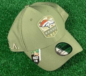 NFL Salute to Service Denver Broncos Hat New Era 39Thirty Fitted Large / XL NEW