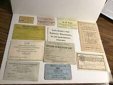 1800s 1900s Philadelphia Pa Business Card Lot Tobacco Oils Jeweler Furniture etc