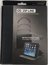 CQ Zip Line Multi Position Folio For iPad Mini With Retractable Cord