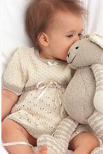 Knitting Pattern - Baby Girls Dress & Toy Rabbit -0-18months (2 patterns) PO191