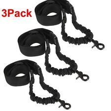 3PCS Single 1 One Point Sling Black Bungee Adjustable Tactical Hunting 40