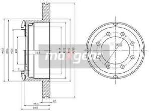 Original Maxgear Brake Disc 19-0986 For Iveco
