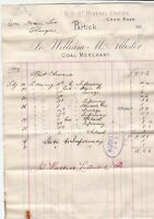William McAllister Crow Road Partick Coal Merchant Goods 1907 Invoice Ref 41549