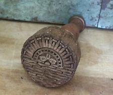 Primitive Farmhouse SUNRISE SUNSET Circle Design wood Butter Mold Stamp Press