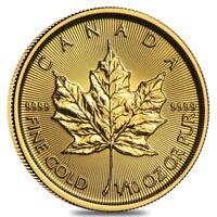 2019 1/10 oz Canadian Gold Maple Leaf $5 Coin .9999 Fine BU (Sealed)