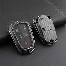 Carbon Fiber Smart Key Fob Case Cover Fit For Cadillac XT4 XT5 XT6 CT6 ATS CTS