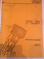 Fiat-Allis FL5 Service manual - Equipment, Hydraulics