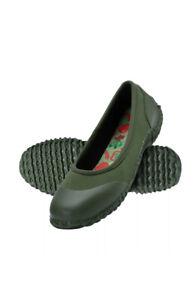Hisea Women Casual Shoes Garden Working Waterproof Slip-on Green Size 7 New+Box