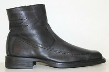 Aldo Mens Black Leather Side Zip Square Toe Ankle Boots Sz 9-10 / 42