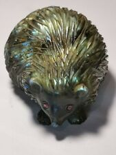 Labradorite Carved Statue Figurine with Natural  Ruby Eye Decoration