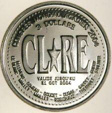 Baie Sainte Marie NS 2004 $3 Trade token trial strike die crack NBS rare