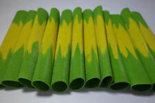 Dual cricket bat grip in yellow and green. Durable. Excellent quality. WH sports
