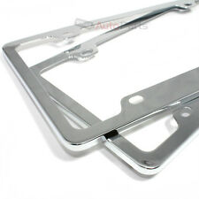 2 Chrome Elegant Metal Custom License Plate Tag Frames for Auto-Car-Truck-SUV