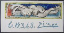 Pablo PICASSO : Petit nu couché # LITHOGRAPHIE SIGNEE # MOULOT #1963