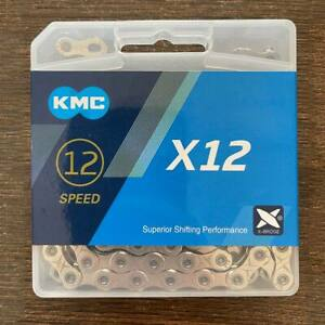 Silver KMC X12 12 Speed Chain 126 Links Road MTB Chains Bike Chains Siver [UK]~