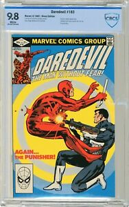 Daredevil   #183  CBCS  9.8  NMMT  White pgs  6/82     Punisher  cover & App. Da