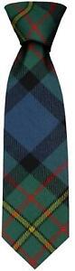Clan Tie MacLaren Ancient Tartan Pure Wool Scottish Handmade Necktie