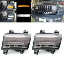 Smoke LED Daytime Running Light Amber Turn Signal DRL for Jeep Wrangler JL 2018+