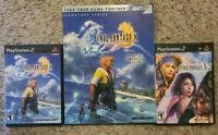 FINAL FANTASY X, X-2 & X Strategy Guide - Sony PS2 Video Game Lot Working!