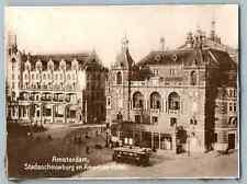 Nederland, Amsterdam, Stadsschouwburg en American-Hotel  Vintage silver print. P