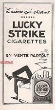 Publicité LUCKY STRIKE Tabac Cigarettes Tobacco vintage print ad  1924 -1j