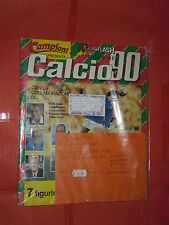 ALBUM FIGURINE CALCIO 90 CALCIATORI- 1990 COMPLETO 520-9 FIGURINE EURO FLASH