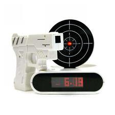 Target Gun Shoot to Stop Alarm Clock