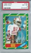 1986 TOPPS #161 JERRY RICE ROOKIE, PSA 8 NM-MT, CENTERED, SF 49ERS, HOF L@@K !