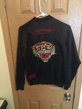 ADULT SMALL BLACK ED HARDY BY CHRISTIAN AUDIGIER LIGHTWEIGHT TIGER JACKET