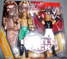 EDGE & CHRISTIAN WWE Mattel Battle 2 Packs 42 Action Figures w/ Tag Belts DMG PK
