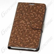 Flip Wallet PU Leather Cover Case For Samsung Galaxy Note III 3 N9000 - Brown