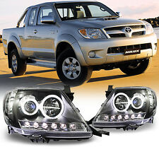 BLACK LED Headlight lamp Projector For Toyota Hilux SR5 MK6 Pickup Vigo 2005-118